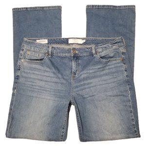 Torrid Sanded Slim Boot Stonewashed Bootcut Jeans